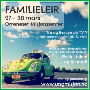 Familieleir - plakat