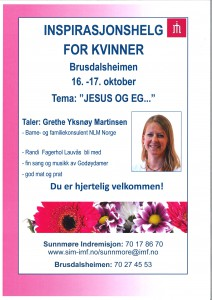 Kvinnehelg 16.-17.oktober 2015