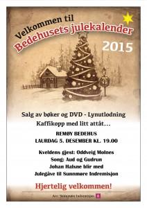 Plakat Remøy bedehus 5. desember 19.00