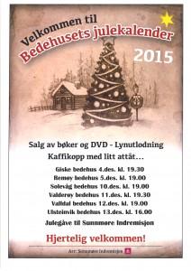 Bedehusets adventskalender 2015