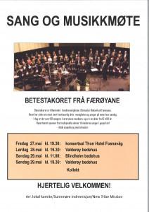Sang og musikkmøte Betestakoret