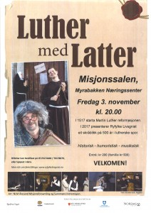 Plakat Luther med Latter jpg