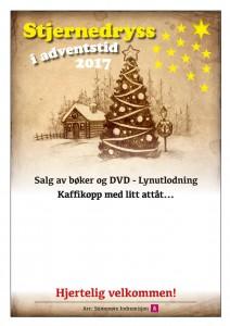 Plakat Stjernedryss i adventstid 2017