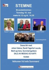 Plakat stemne Brusdalsheimen 2018