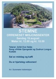 Plakat Orrenesstemne 2018 original